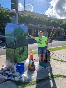 Wendy Roberts Kailua beautification project